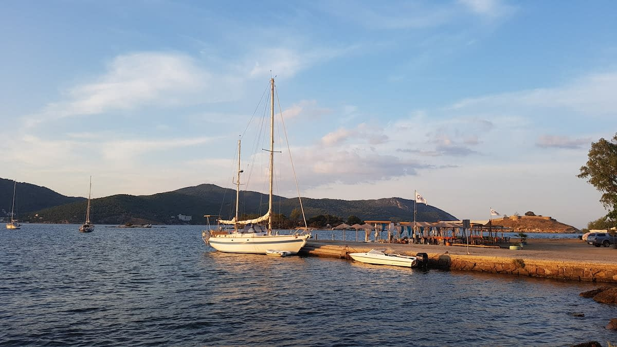 living on a sailboat in greece