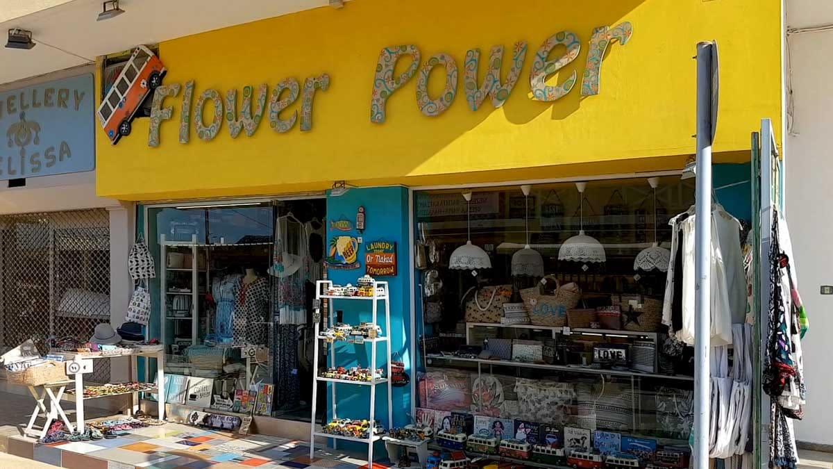 Flower Power hippie shop