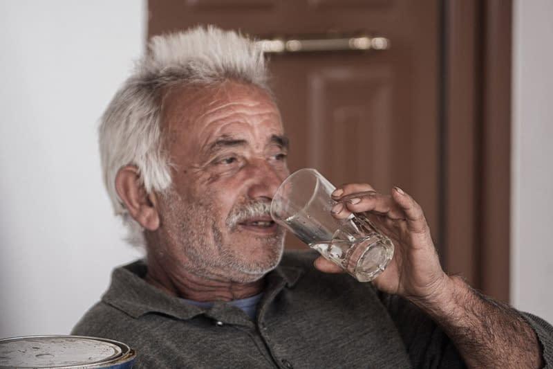 greek drinking tsipouro