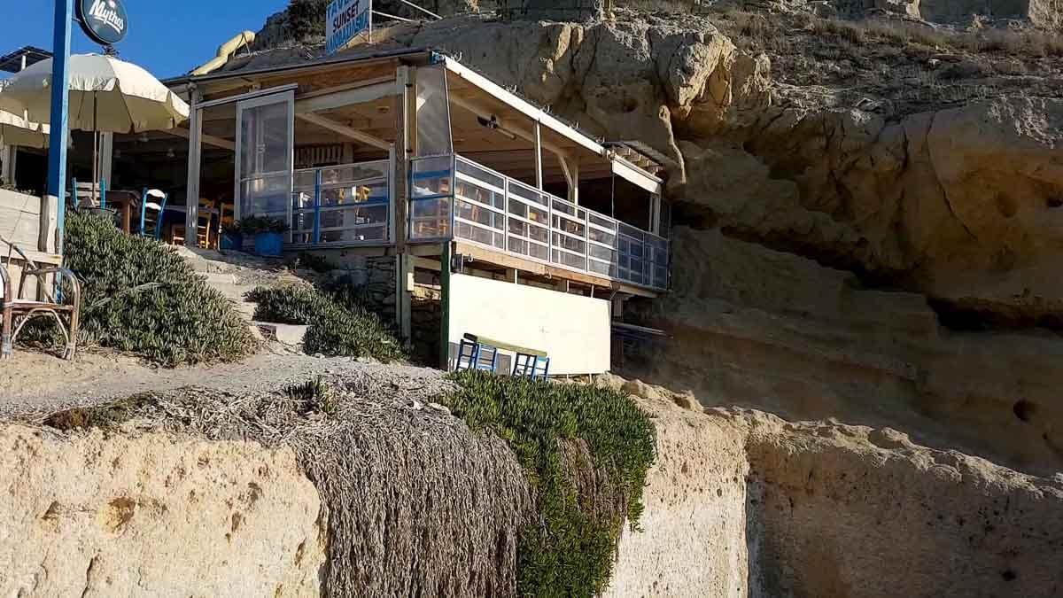 A romantic restaurant in Matala