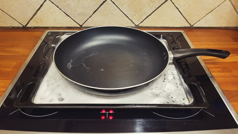 the solution that melts burned bottom of pans