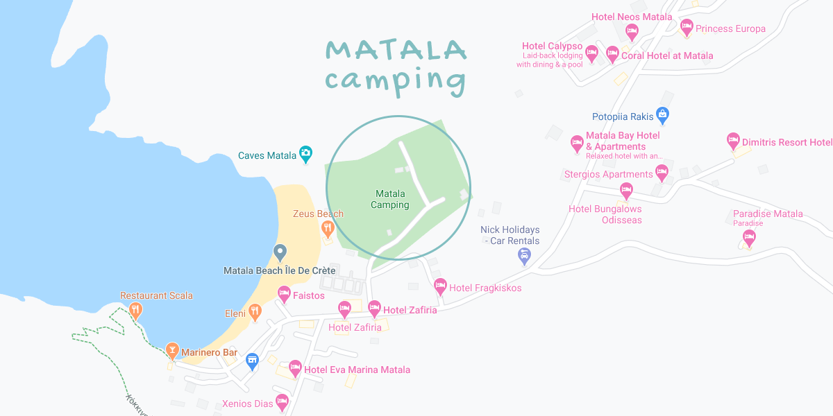 Matala Camping Site location on map