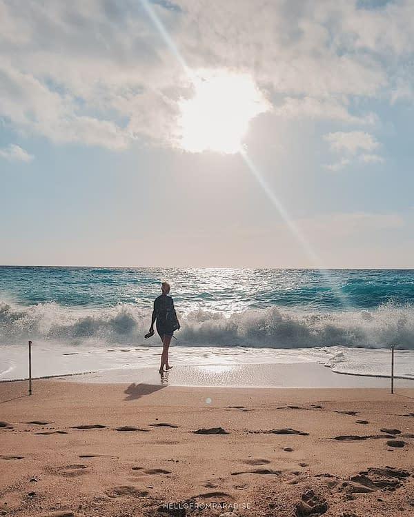 on a greek beach