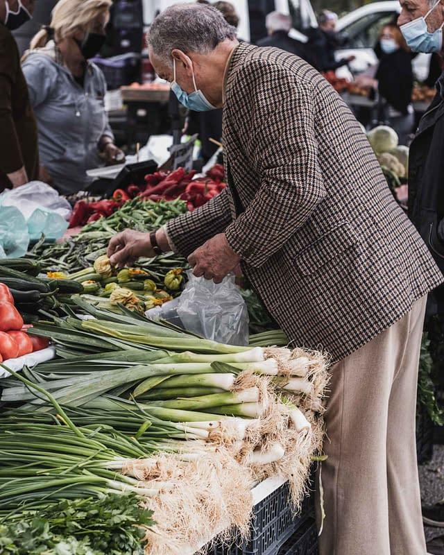 local buying fresh veggetables in lefkada