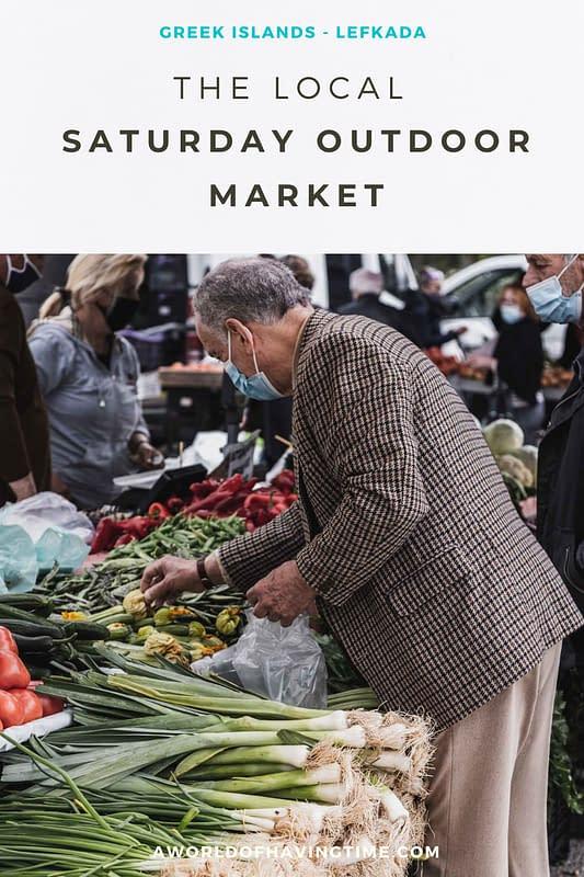 Local Outdoor Weekly Saturday Market in Lefkada
