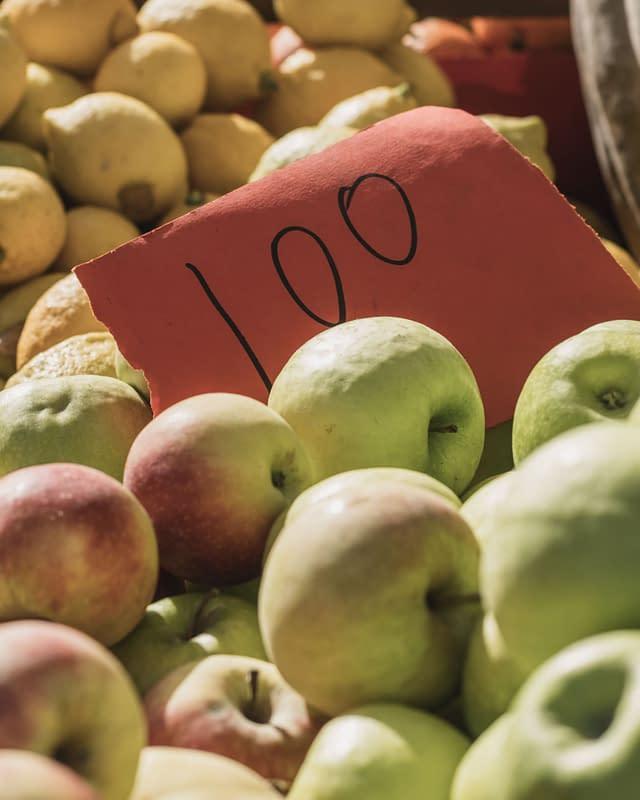 apples 1 euro per kilo