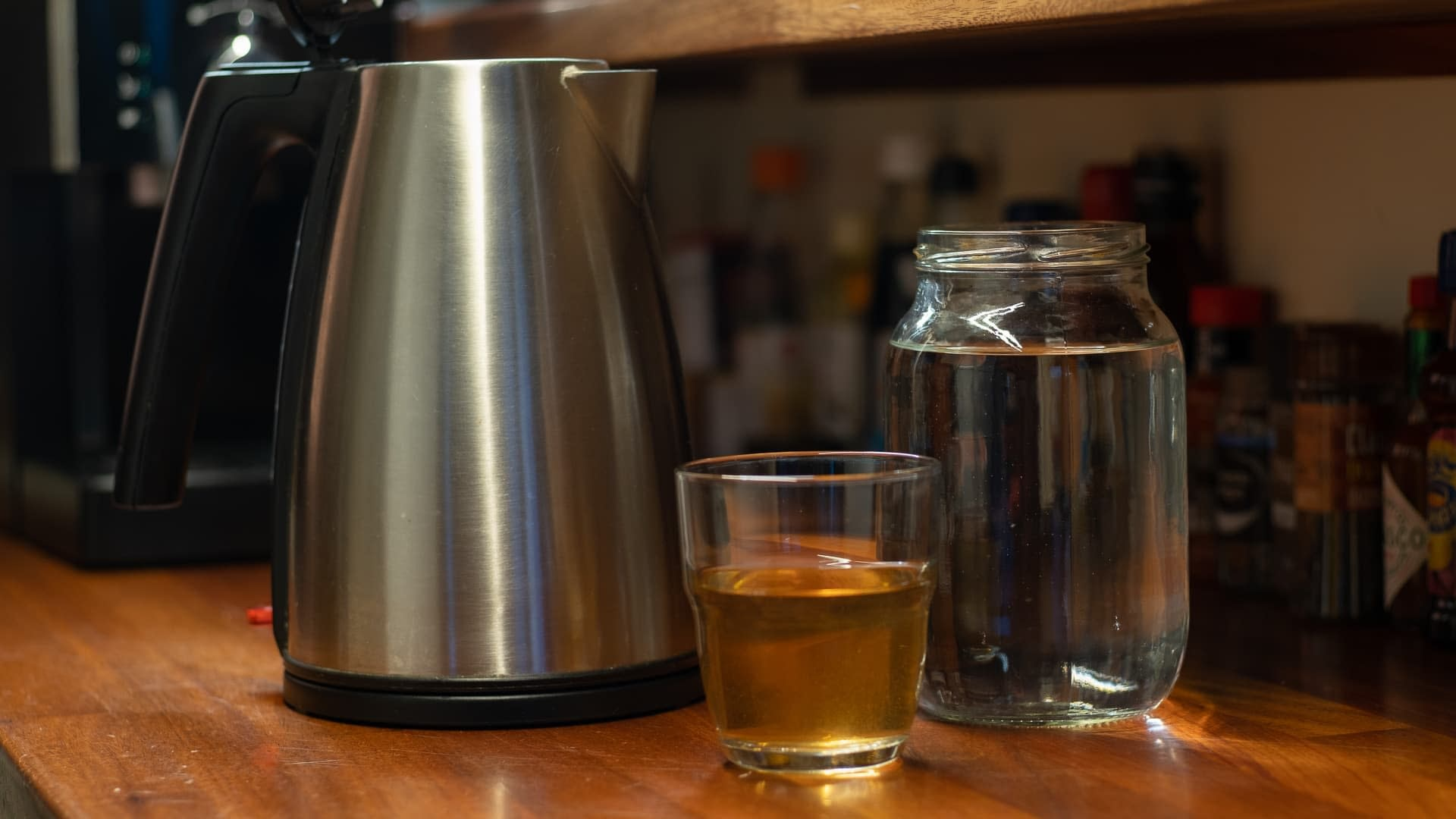 Descale your kettle with vinegar