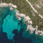 standing stones beach lefakda drone photography