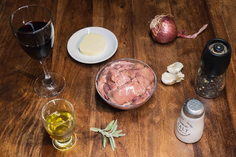 ingredients for homemade liver pate recipe