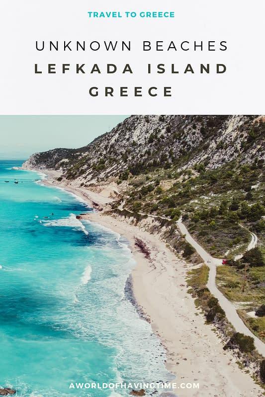 unknown beaches lefkada west coast