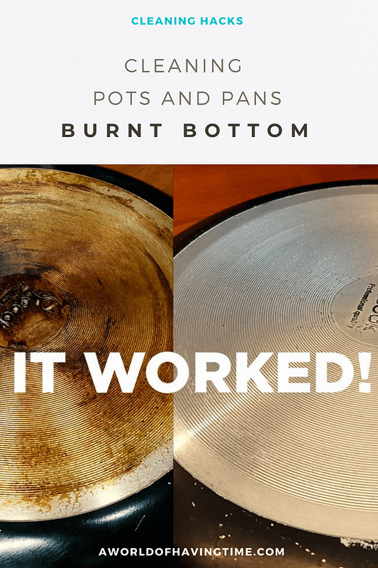 cleaning pots and pans bottom method that works