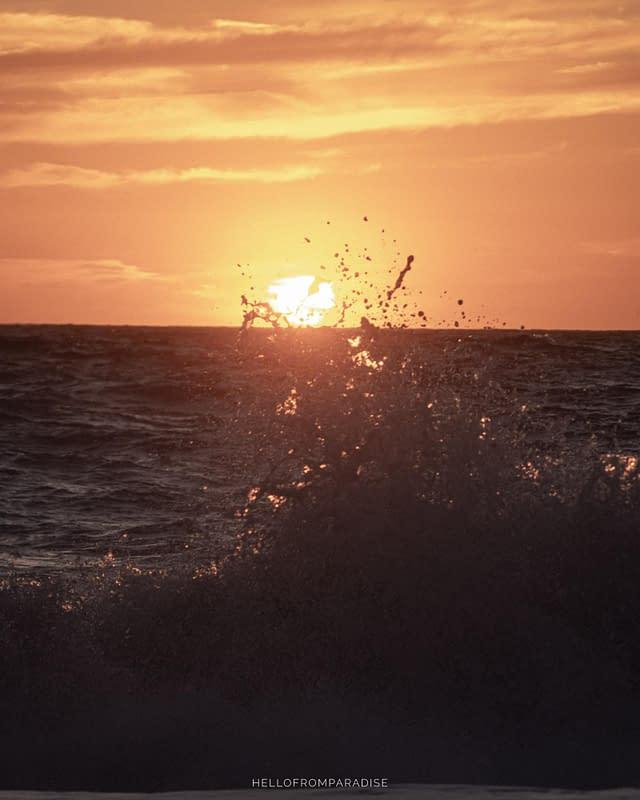 sunset in lefkada greece