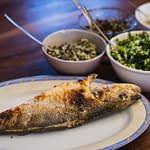 fresh fish from the fisherman in lefkada greece