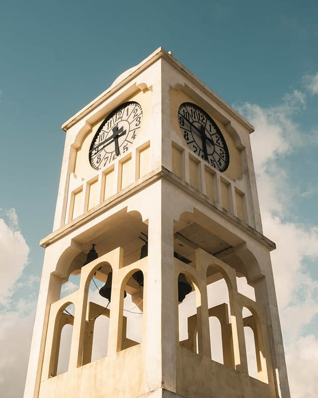 old tower clock greece